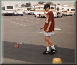 Bradley walking his dog 1990's