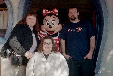 John, Tina,  Me and Minnie Mouse