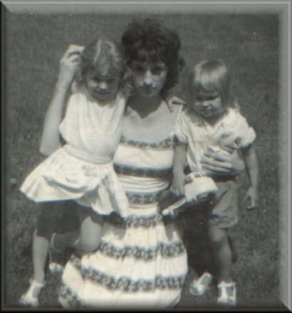 SInda and I with mom in September 1962
