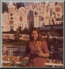 Carrie in front of It's A Small World 1972?