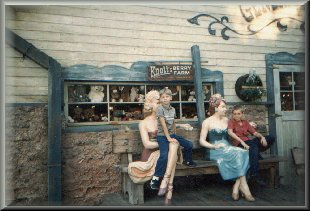 Jason and Ryan with lady friends at Knott's 9/1986