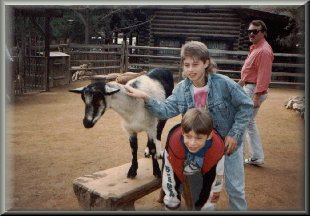 Jason and Ryan with the goats 1/1989