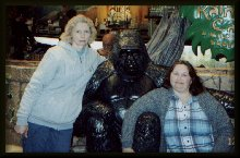 Sinda and I with the gorilla
