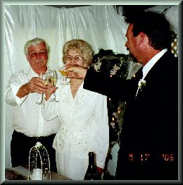 Rob toasting the bride and groom